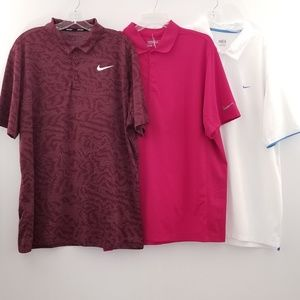 Bundle 3 Men's Nike Golf Polo Shirt Size XL